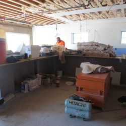 Another look at the bar. The exposed woodwork above will remain.