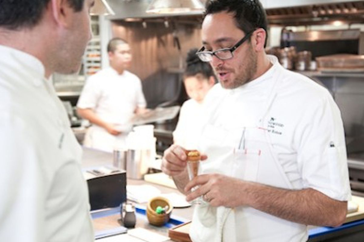 Chef Kostow at last year's Twelve Days of Christmas.