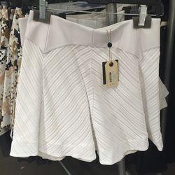 White Basha flare skirt, $125