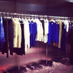 Blue, black, gold, white: a taste of Acne's current color palette.