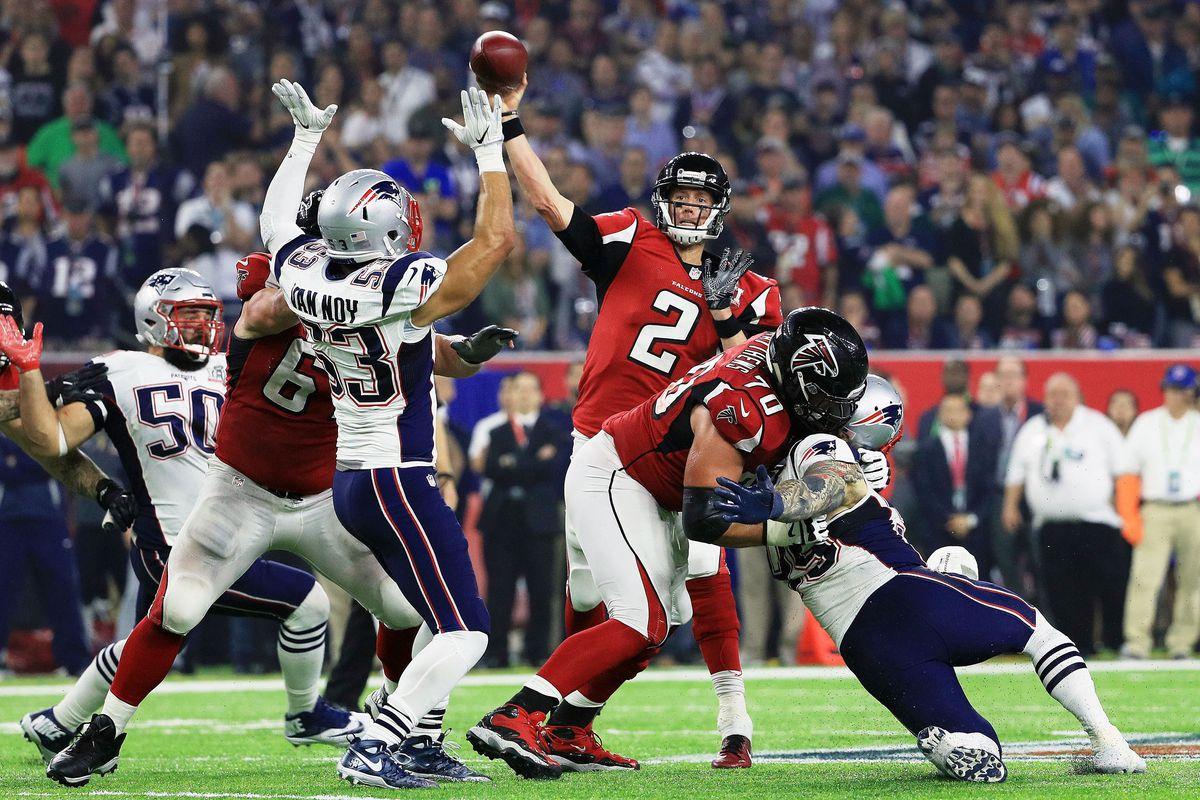 Matt Ryan throws a pass during Super Bowl LI (GettyImages)