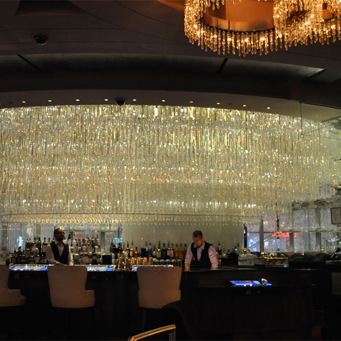 The Chandelier Bar Re Opens with Video Poker Eater Vegas