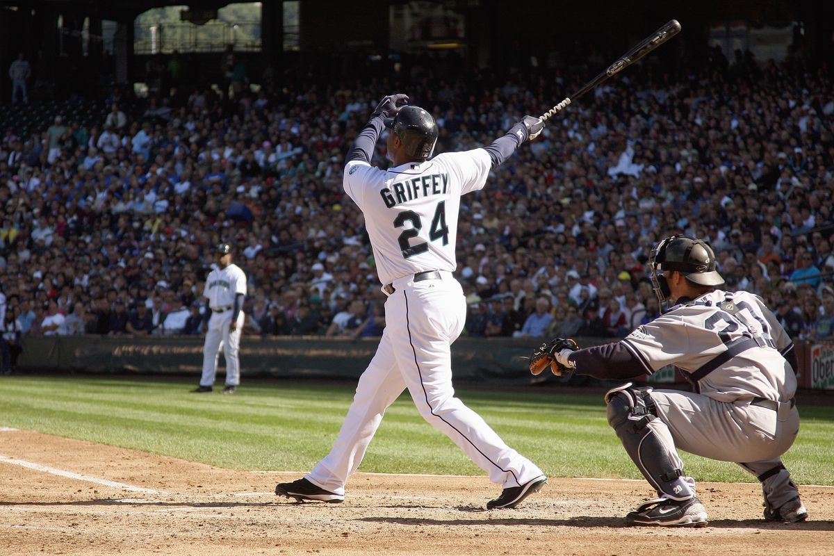 8a9d3754fd ... his dad's number? New York Yankees v Seattle Mariners. Griffey Jr. ...