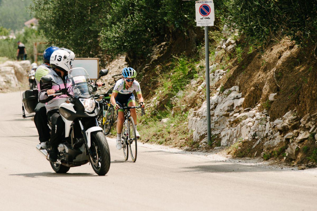 Valentina Scandolara attacking on Stage 1 of the Giro Rosa