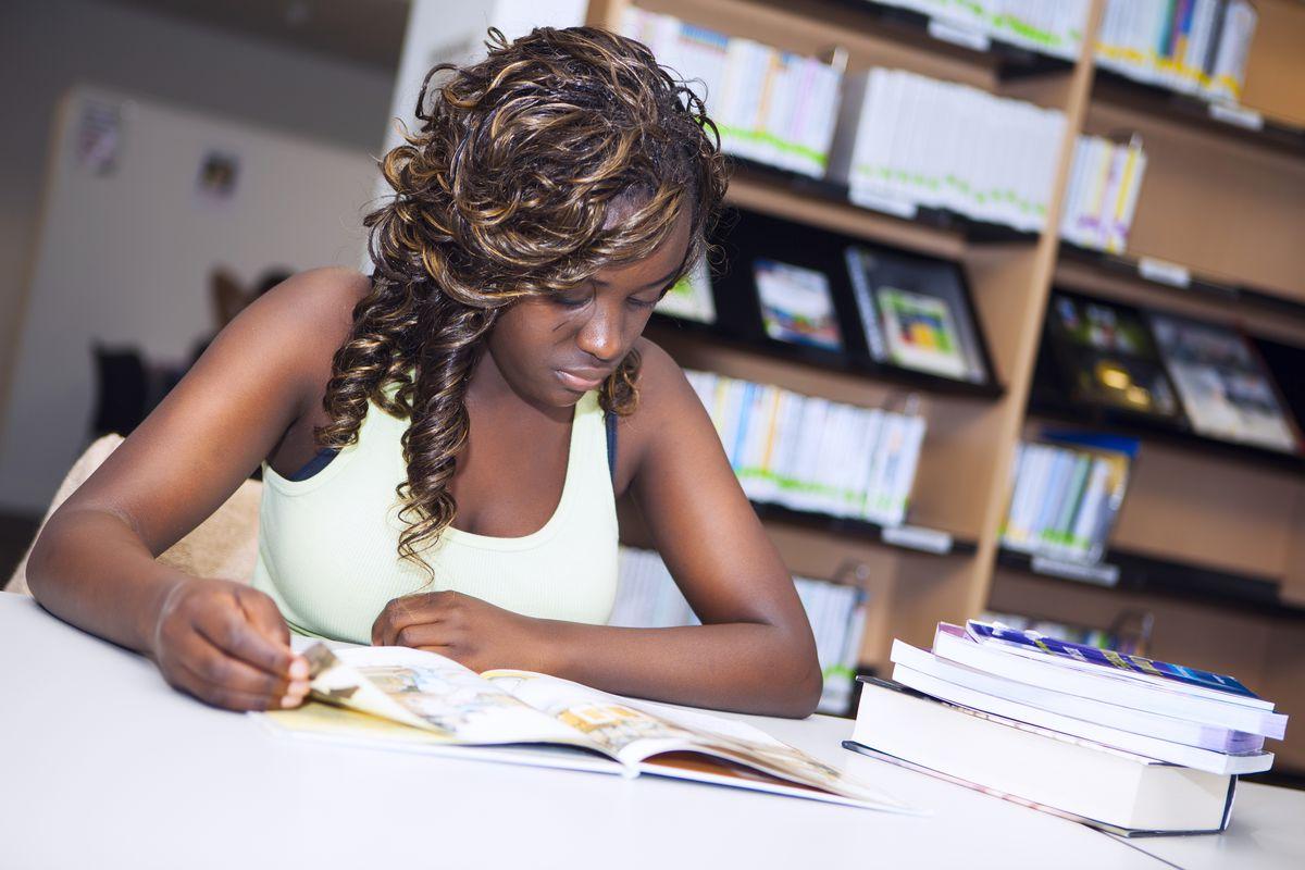 A black student.