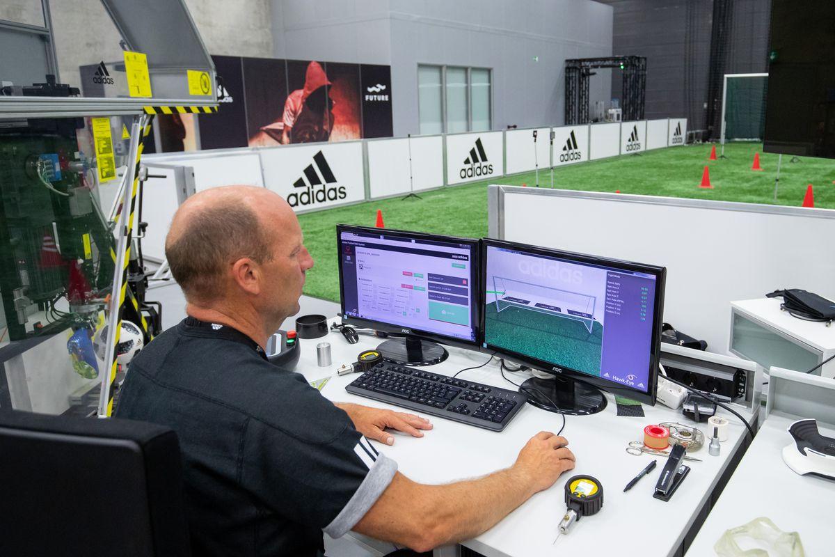 World Cup ball at adidas testing lab