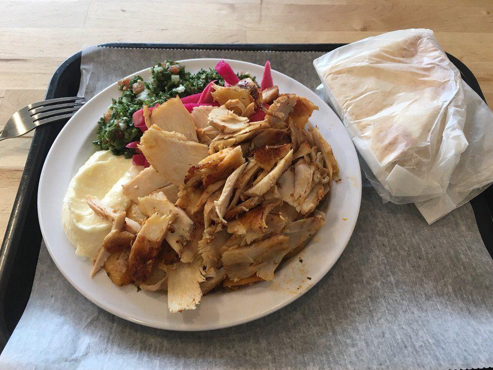 Chicken shawarma plate at Garlic 'n Lemons