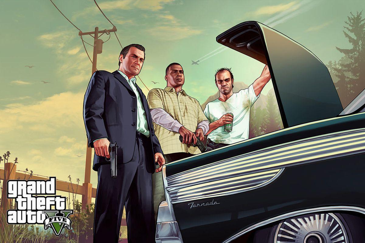 Three main characters from GTA5