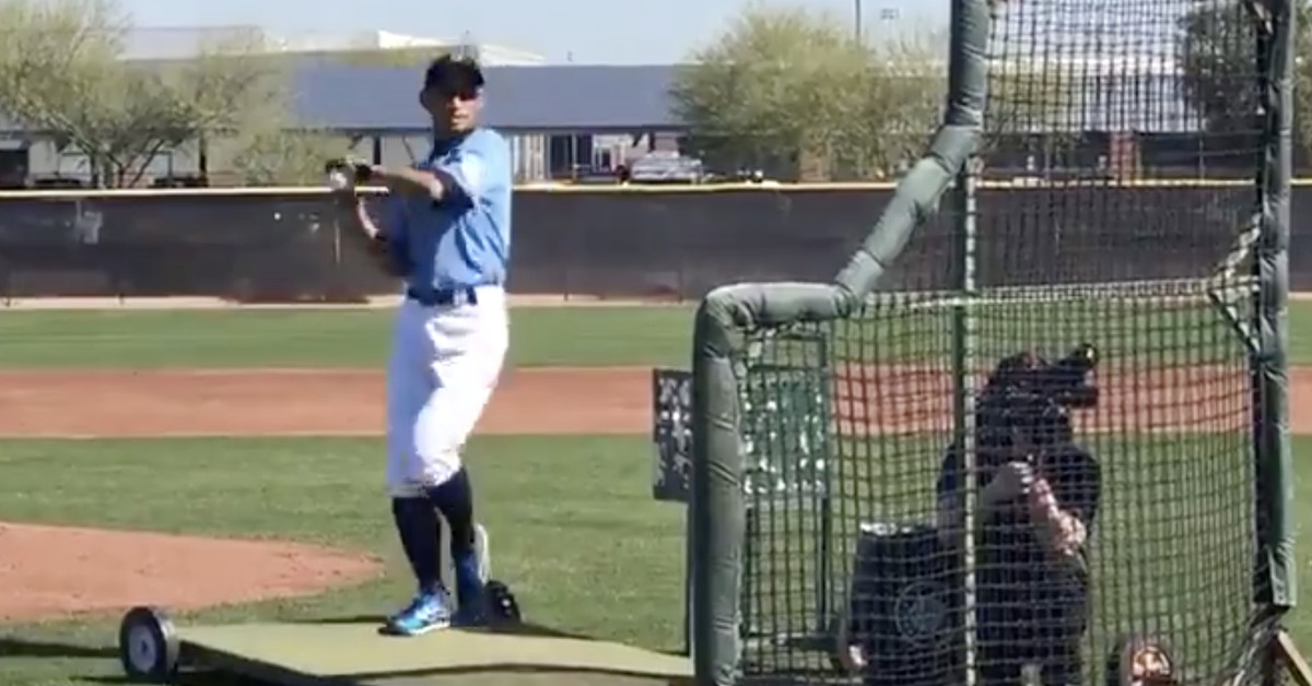 Only Ichiro could make throwing BP feel like magic