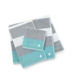 """<a href=""""http://www.katespade.com/ivy-stripe-wash-towel/323040WGY,default,pd.html?dwvar_323040WGY_color=020&start=19&cgid=bedding-bath"""">Ivy Stripe Wash Towel</a> $8"""