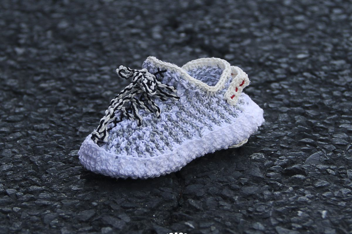 d937307e7bf55 Who Needs Baby Yeezys When You Have Crocheted Yeezy-Style Booties from Etsy