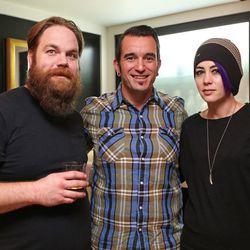 Jason Patz and Sean Kenyon of Williams & Graham with Kenyon's wife, Heather
