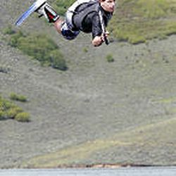 Jason Coop participates in the Intermountain Wakeboard Association Summer series at East Canyon Reservoir. The wakeboard series is a set of contests throughout the summer for wakeboarders of all levels.