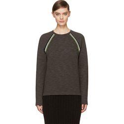 "<b>T by Alexander Wang</b> sweatshirt, <a href=""https://www.ssense.com/women/product/t_by_alexander_wang/charcoal-fleece-neon-trim-sweatshirt/111854"">$175</a>"