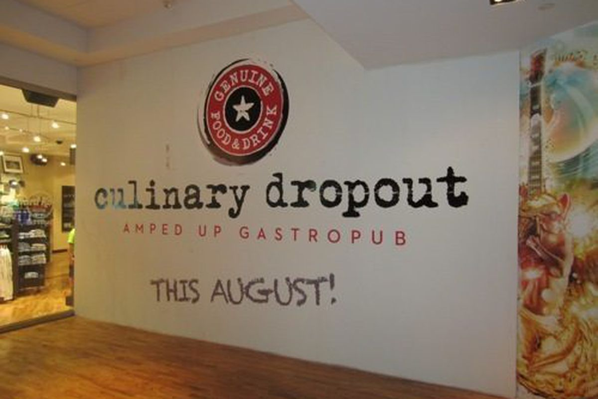 The plywood is up, announcing Culinary Dropout opening in August at the Hard Rock Hotel.