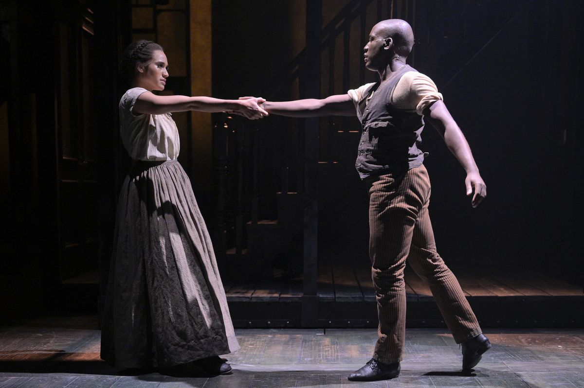 """Gabrielle McClinton and Sidney Dupont in the Berkeley Repertory Theatre production of """"Paradise Square"""""""