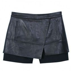 """Tibi layered leather shorts, <a href=""""http://www.tibi.com/shop/new-arrivals/leather-short-32795"""">$550</a>"""