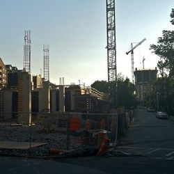 77 12th Street construction on the left, with SkyHouse visible in the background