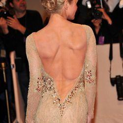 Renee Zellweger's back upstages Diane Kruger's leg. (