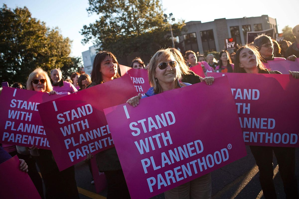 Planned Parenthood supporters
