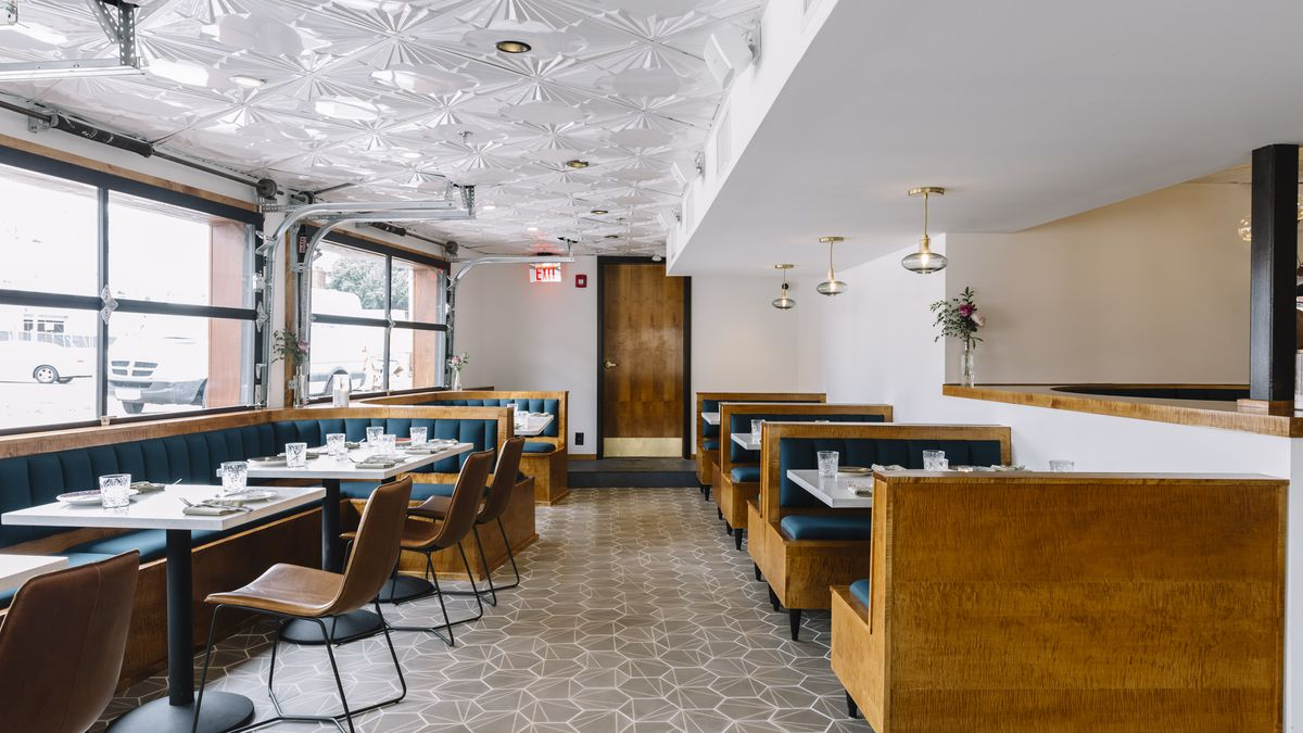 Take a Look Around Maneet Chauhan\'s Art Deco-Tinged Modern Diner ...