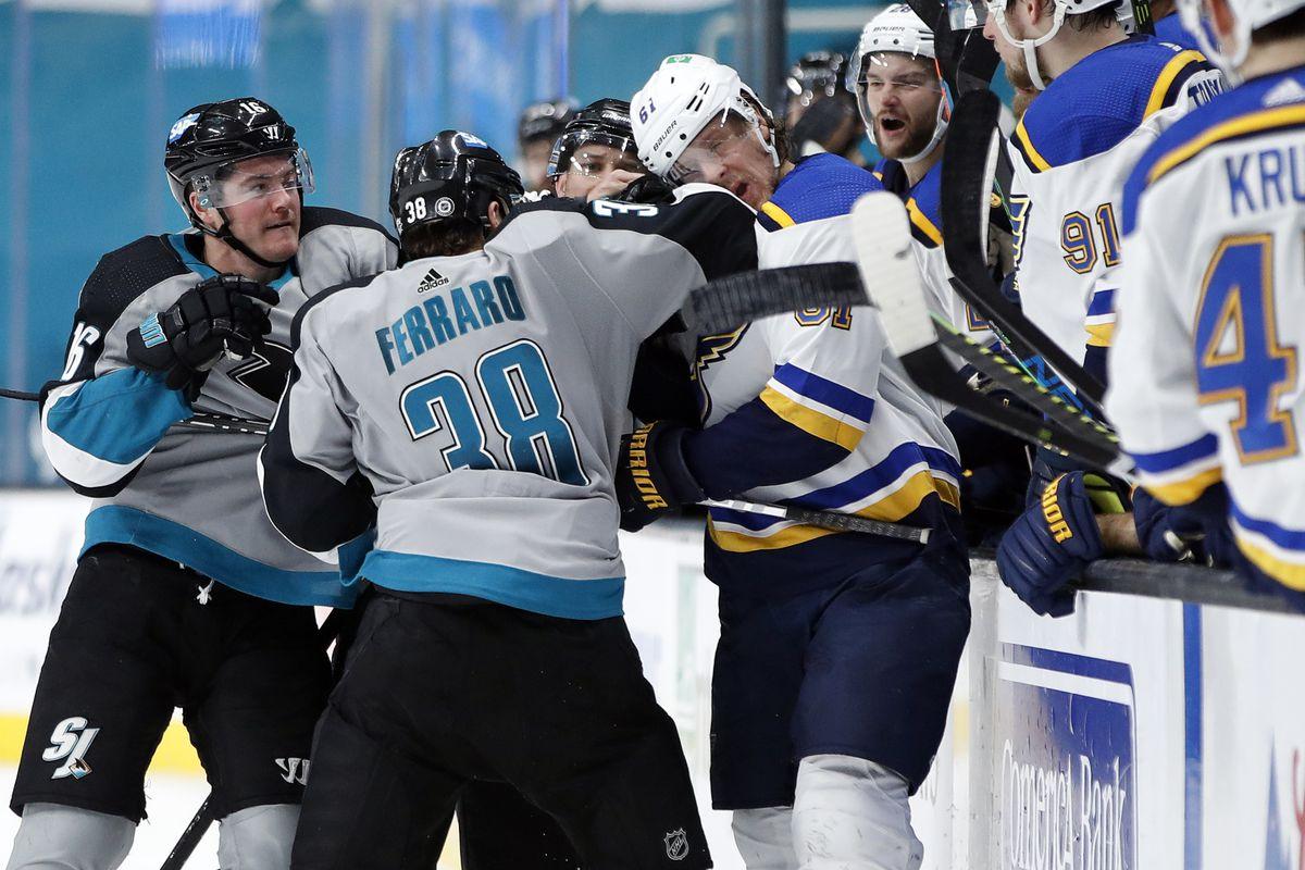 NHL: St. Louis Blues at San Jose Sharks