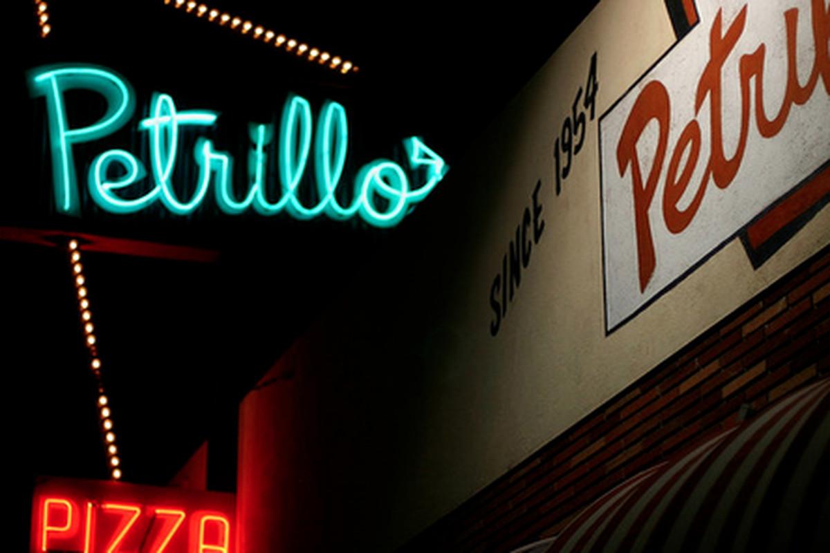 Outside Petrillo's Pizza, San Gabriel.