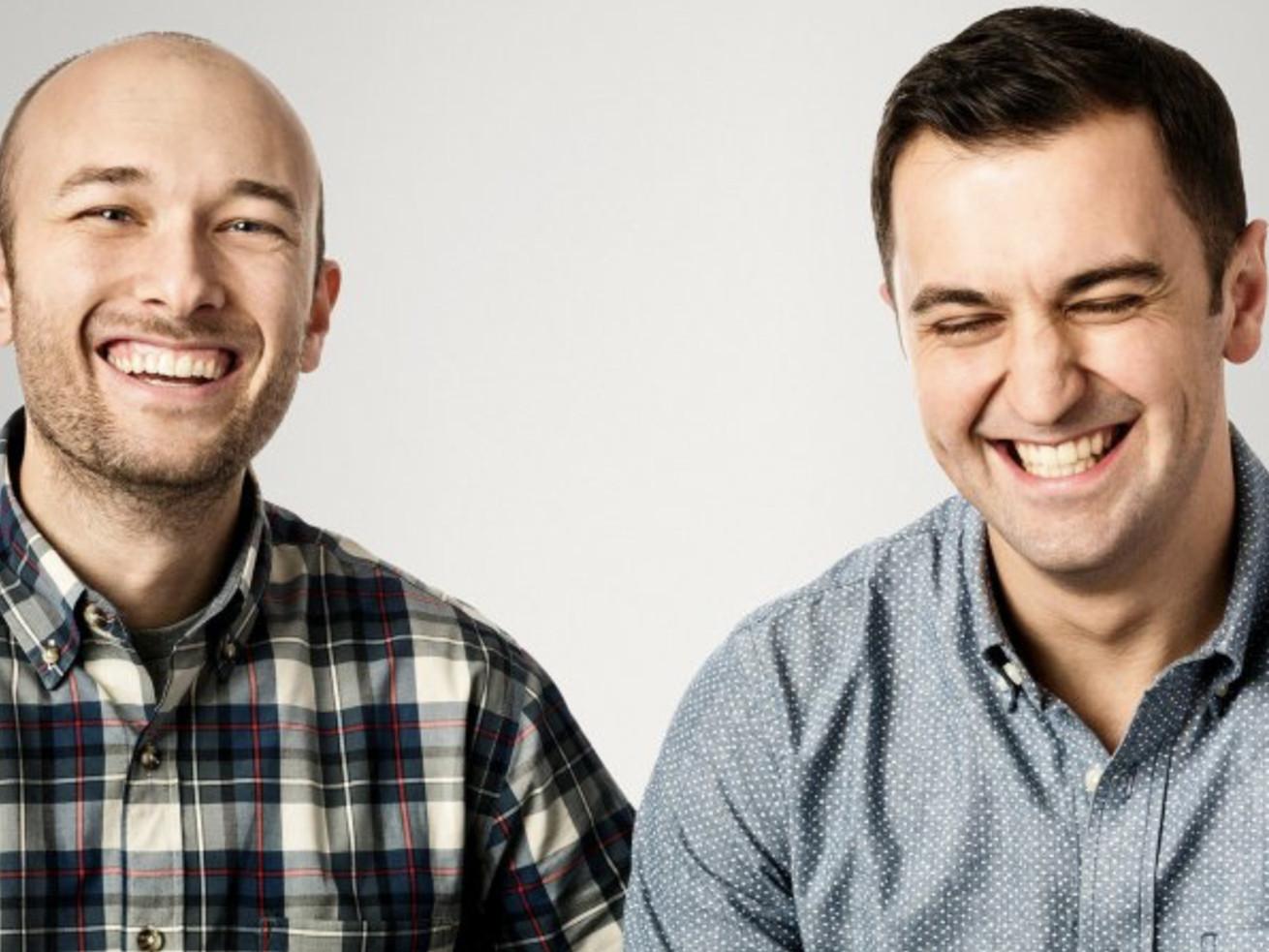 Uber co-founders Logan Green, left, and John Zimmer