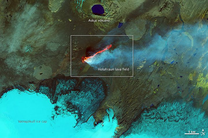 holuhraun lava field NASA zoomed out