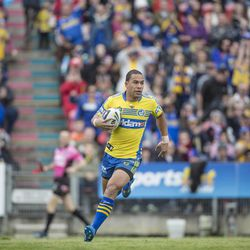 Will Hopoate plays during a game with the Parramatta Eels. Hopoate recently returned from a mission for The Church of Jesus Christ of Latter-day Saints and continues to play rugby.