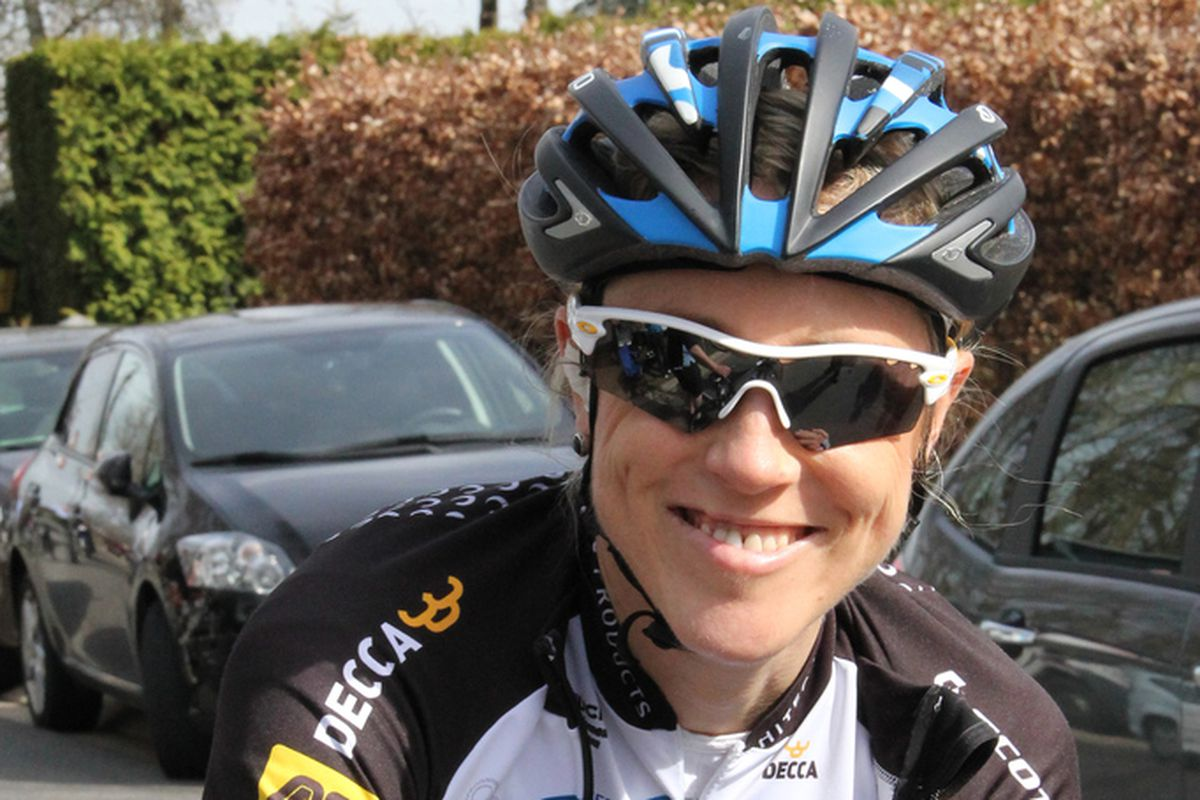 Rachel Neylan before the Flèche Wallonne