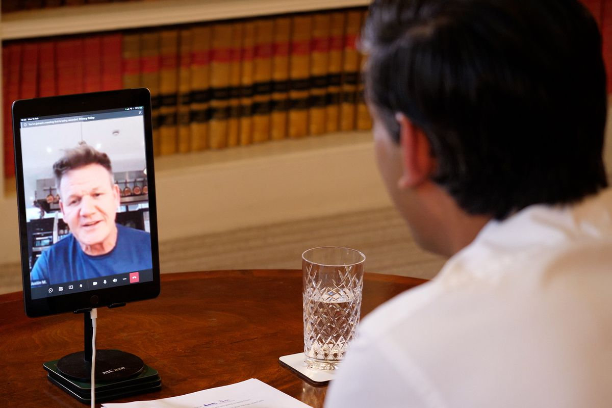 A virtual meeting between Gordon Ramsay and Chancellor Rishi Sunak ahead of the Budget on 3 March