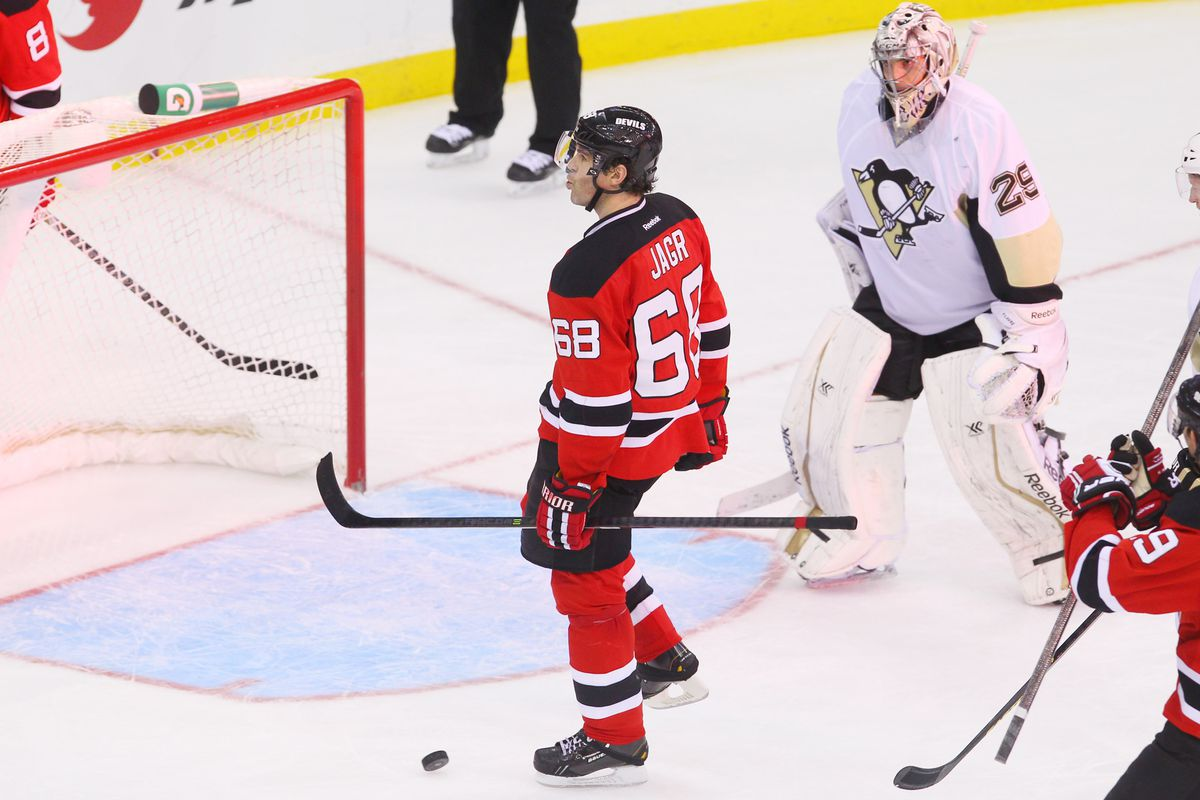 What we want to see today: Jagr doing something for a goal against Fleury, looking confused/unhappy about being beaten.