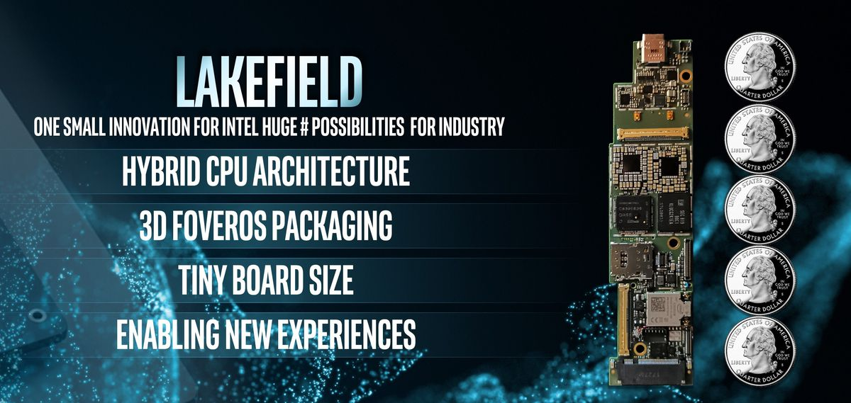Intel demos first Lakefield chip design using 3D stacking