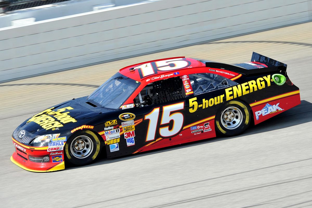 Sep 14, 2012; Joliet, IL, USA; NASCAR Sprint Cup Series driver Clint Bowyer (15) during practice for the Geico 400 at Chicagoland Speedway.  Mandatory Credit: Rob Grabowski-US PRESSWIRE
