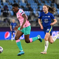 A late chance for substitute Asisat Oshoala