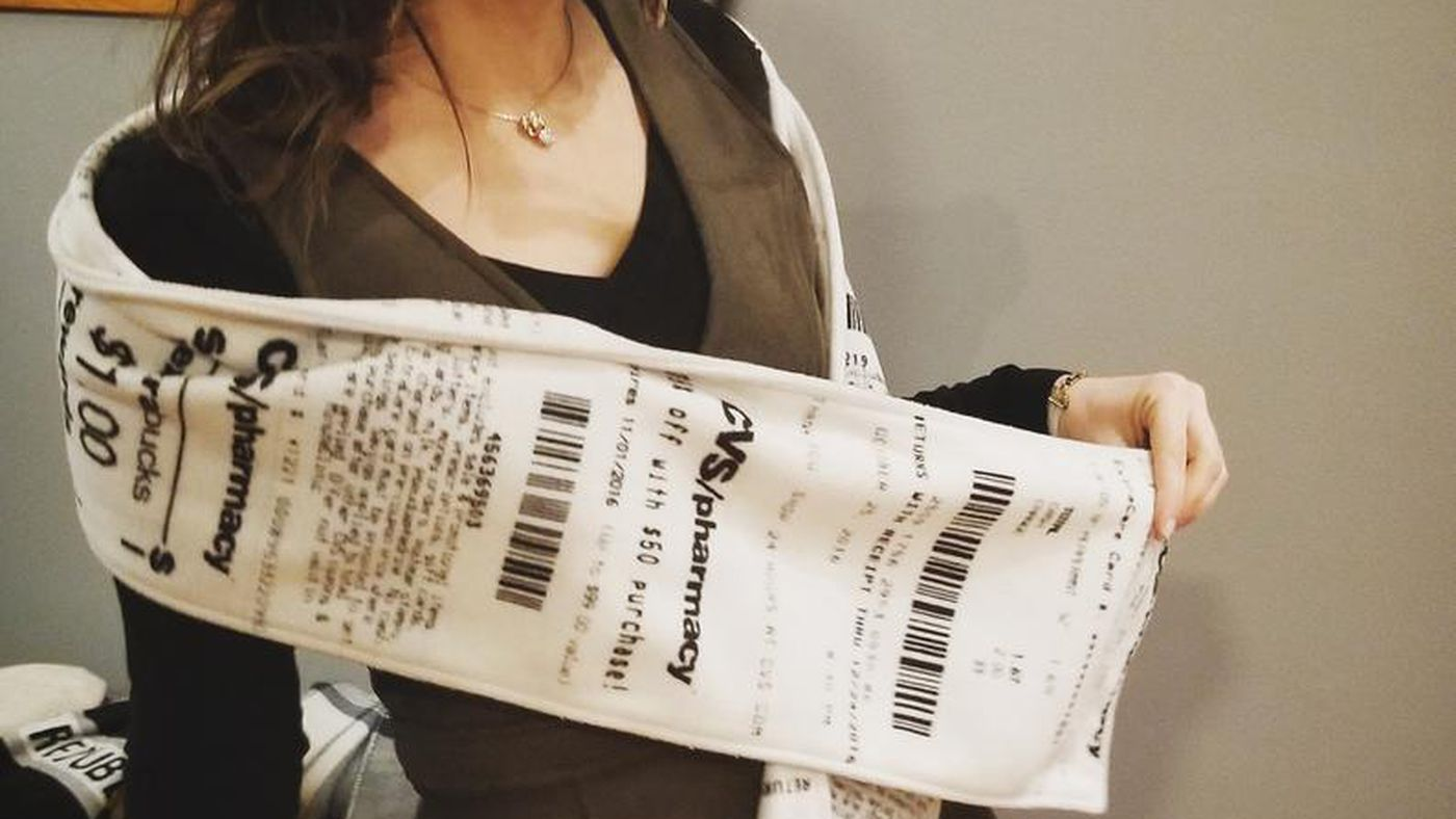 Someone Made Scarves That Look Exactly Like CVS Receipts, Oh My God