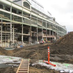 JPEG #6677 View of the exposed west side of the ballpark and new excavation work in the triangle lot