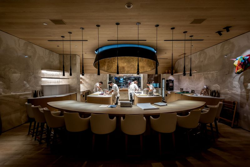 The dining room of Somni, Los Angeles