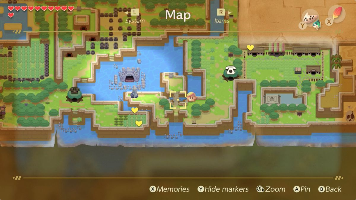 Link's Awakening trading sequence Fisherman Necklace location