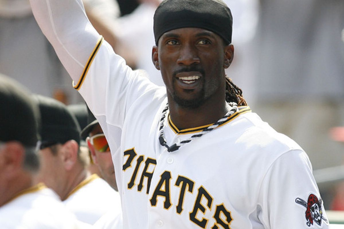 Pittsburgh Pirates center fielder Andrew McCutchen has been one of the best players in baseball on a surprise division-leading team. Mandatory Credit: Charles LeClaire-US PRESSWIRE