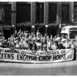 The first company outing in 1937, courtesy of Keens