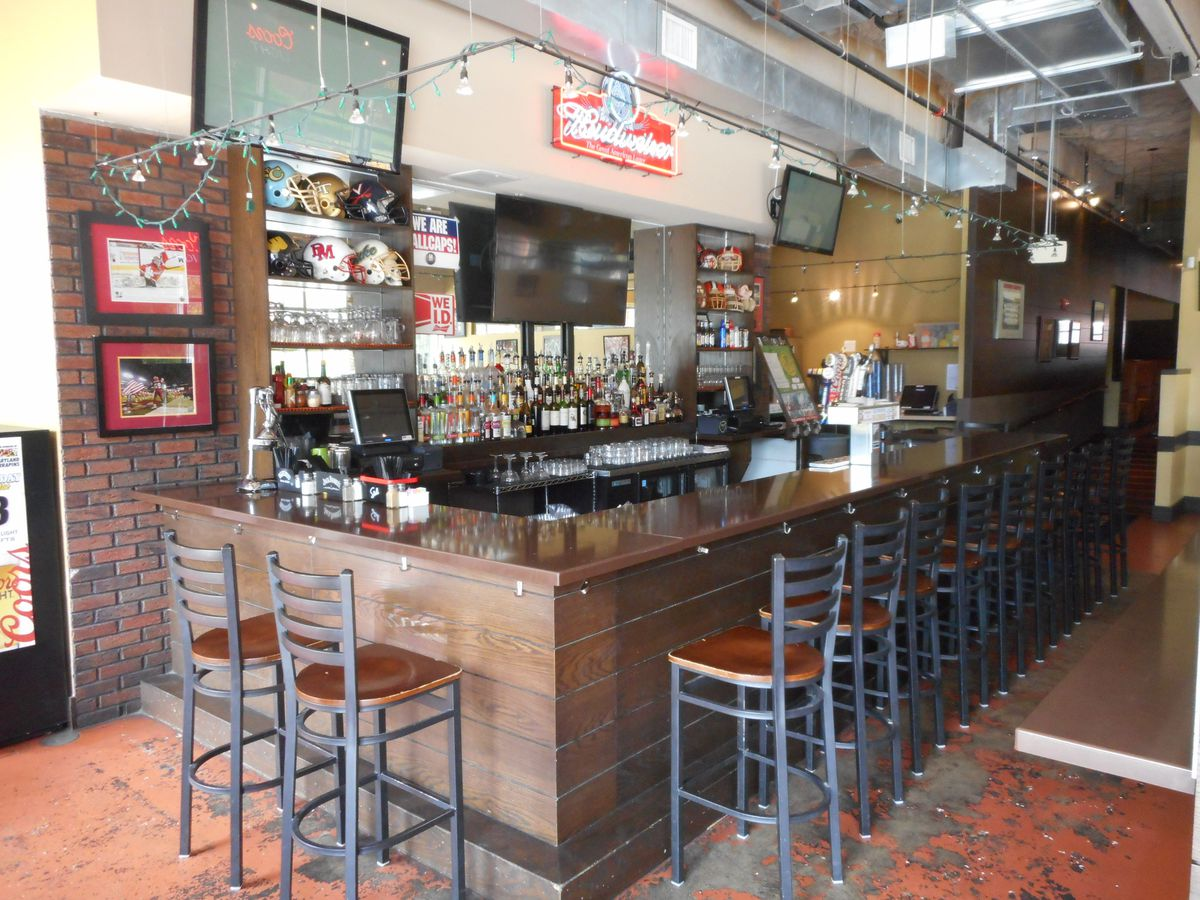 The bar at Ledo Restaurant in College Park, where the original pizzeria relocated in 2010.