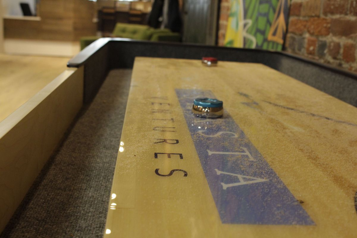 Shuffleboard at Shasta Ventures' South Park office
