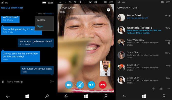 skype windows 10 mobile universal