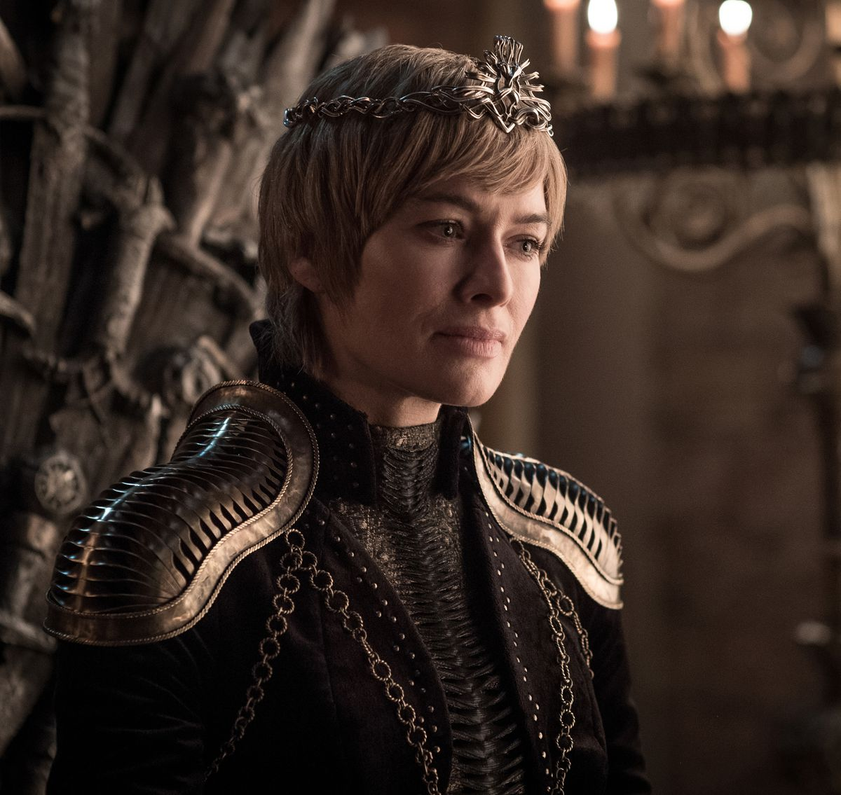 Game of Thrones season 8 - Cersei Lannister on the Iron Throne