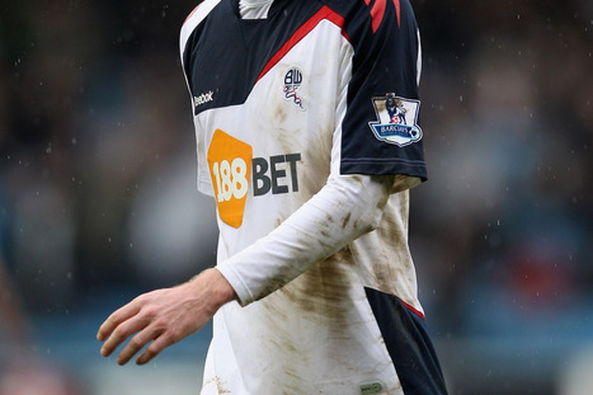 LONDON, ENGLAND - FEBRUARY 18:  Tim Ream of Bolton looks on during the FA Cup fifth round match between Millwall and Bolton Wanderers at The Den on February 18, 2012 in London, England.  (Photo by Michael Steele/Getty Images)