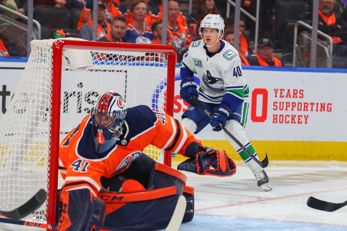 NHL: OCT 02 Canucks at Oilers