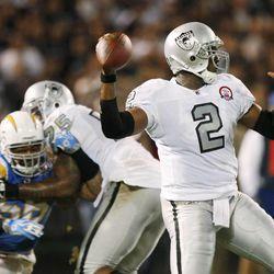 Oakland Raiders quarterback JaMarcus Russell.
