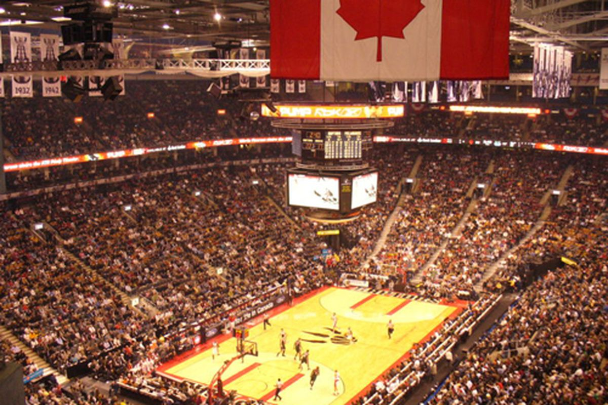One of the reasons for the Toronto Raptors' financial success?  The Air Canada Centre...
